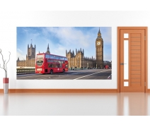 England Red Bus and Big Ben